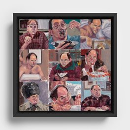 9 shades of Costanzas Framed Canvas