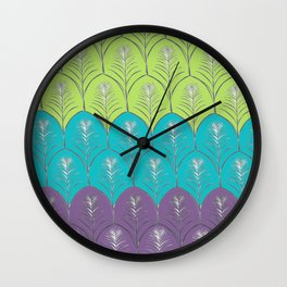 Leaves upon Leaves pattern Wall Clock