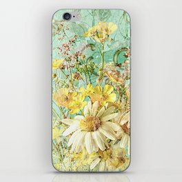 Boho Daisies and Buttercups iPhone Skin