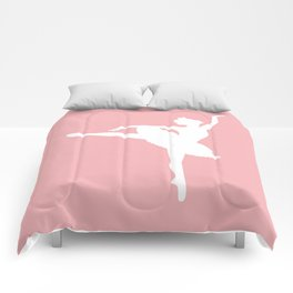 Pink and white Ballerina Comforters