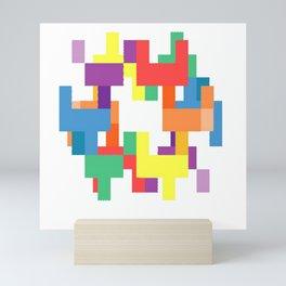 Rainbow Pixels Mini Art Print