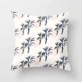Double palm pattern Throw Pillow