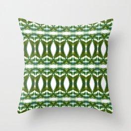 Palm Leaf Kaleidoscope (on white) #2 Throw Pillow