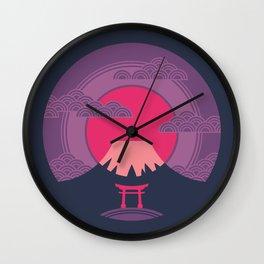 Fuji Sunset Wall Clock