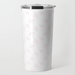 Pink Queen Anne's Lace pattern Travel Mug