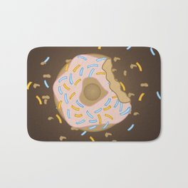 Donut bites back Bath Mat