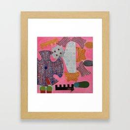 Highlighter Pink Framed Art Print