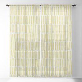 Citrusy Lines No 02 Sheer Curtain