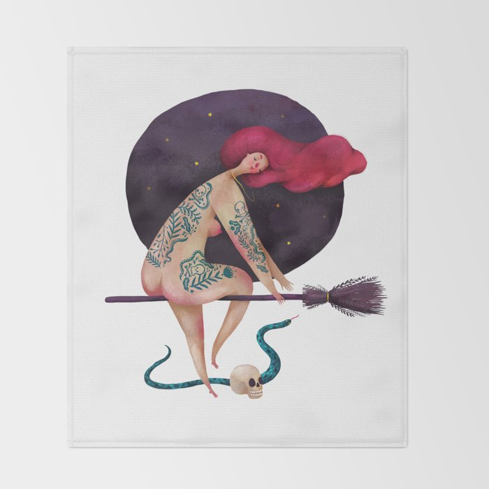 Sexy witch Throw Blanket