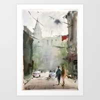 street Art Prints featuring Street by Baris erdem