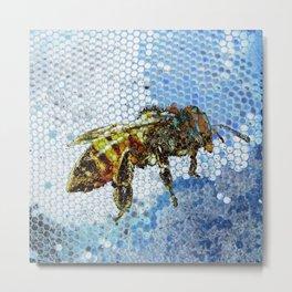 Bee blue Metal Print