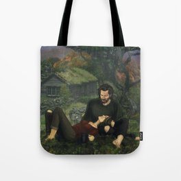 """The Ghosts That We Knew Will Flicker From View; and We'll Live a Long Life."" Tote Bag"