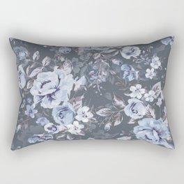 Blue FLORAL roses pattern Rectangular Pillow
