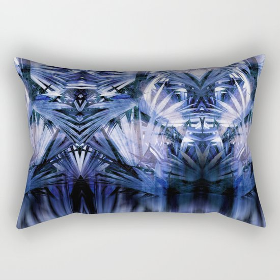 Palm With Gradient Rectangular Pillow