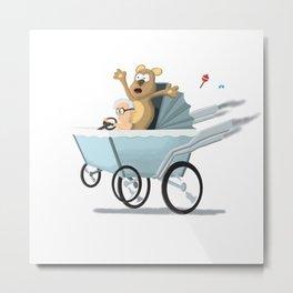 Racing Baby Metal Print