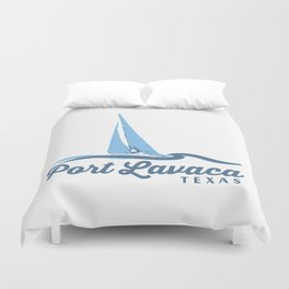 Port Lavaca Texas. Duvet Cover