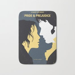 No584 My Pride and Prejudice minimal movie poster Bath Mat