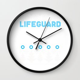 Lifeguard Swimming Ugly Christmas Sweater Gift Wall Clock