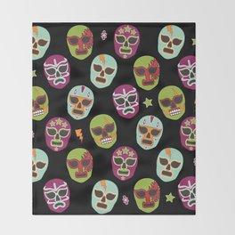 Máscaras (black background) Throw Blanket