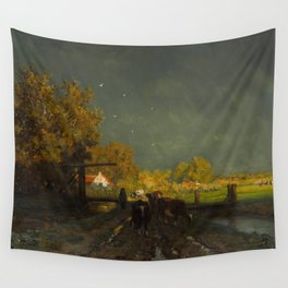 The Rainbow - Willem Roelofs (1875) Wall Tapestry