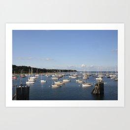 Cape Cod Harbor Art Print