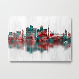 Lyon France Skyline Metal Print