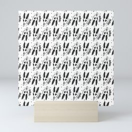 Skelly pattern Mini Art Print