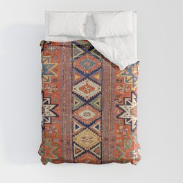 Southwestern Farmhouse III // 19th Century Colorful Red Yellow Blue Green Aztec Farm Stars Pattern Duvet Cover