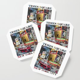Times Square II (widescreen poster on white) Coaster