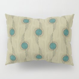 Teal Turquoise Circles Pattern Modern Abstract Pillow Sham
