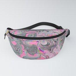 Neon pink Glitch pattern Fanny Pack