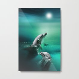 Dolphin Delights Metal Print
