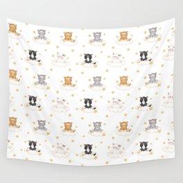 Cat Kitten Baby Girl Nursery Room Decor Wall Tapestry
