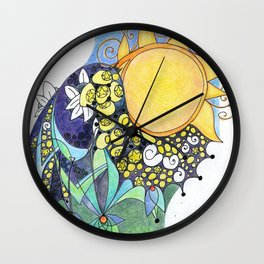 Portrait of a Lover Lost Wall Clock