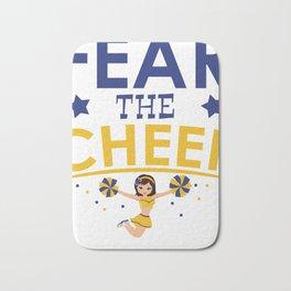 Cheerleader Cheerleading Gift Dance Football Bath Mat