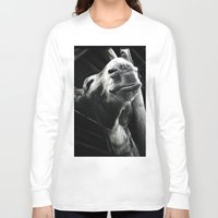 donkey Long Sleeve T-shirts featuring donkey by chicco montanari