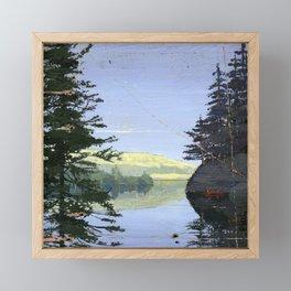 canoe Framed Mini Art Print