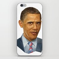 obama iPhone & iPod Skins featuring Obama 2012 by HOPE 4 MORE
