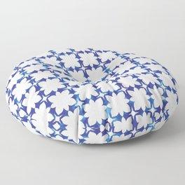 blue morrocan dream no1 Floor Pillow