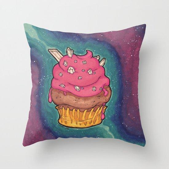 Cosmic Cupcake Throw Pillow