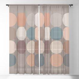 Neutral Geometric 5C Sheer Curtain