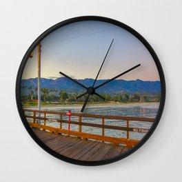Santa Barbara at twilight Wall Clock