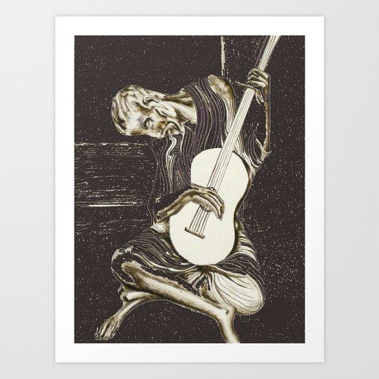 The New Old Guitarist (part 2) Art Print