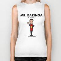 bazinga Biker Tanks featuring Mr Bazinga by NicoWriter