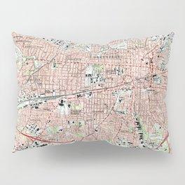 Greensboro North Carolina Map (1997) Pillow Sham
