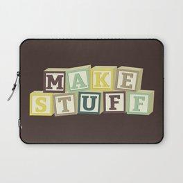 Make Stuff - Brown Laptop Sleeve