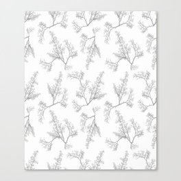 Botanic Motif Nature Pattern Canvas Print