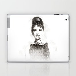 Audrey Hepburn portrait 01 Laptop & iPad Skin