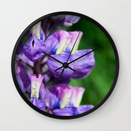 Alaskan Lupine Photography Print Wall Clock