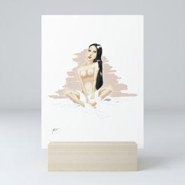 bathing woman Mini Art Print